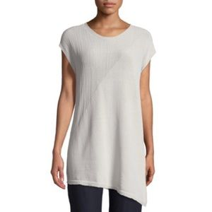 Eileen Fisher mixed-knit tunic